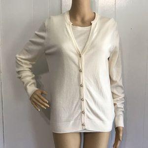 Pendleton Merino Wool Ivory Sweater Twinset